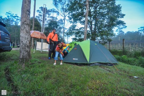 Tenda sudah berdiri